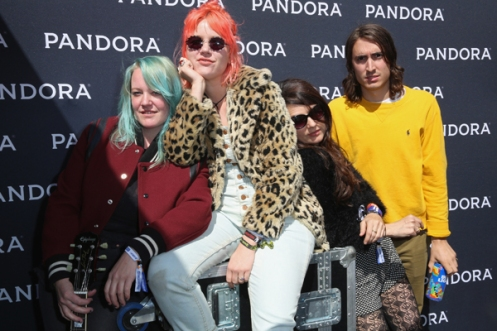 Jennifer Calvin and Jessica Clavin of Bleached pose for a portrait at the Pandora Discovery Den during SXSW 2016 on March 19, 2016 in Austin, Texas. (Photo: Rachel Murray/Getty)