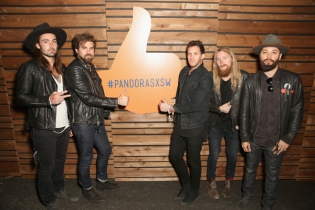 Grizfolk poses for a portrait at the Pandora Discovery Den during SXSW 2016 at The Gatsby on March 19, 2016 in Austin, Texas. (Photo: Rachel Murray/Getty)