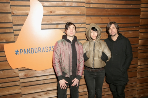 Autolux pose for a portrait at the Pandora Discovery Den during SXSW 2016 at The Gatsby on March 19, 2016 in Austin, Texas. (Photo: Rachel Murray/Getty)