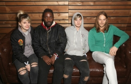 Bloc Party pose for a portrait at the Pandora Discovery Den during SXSW 2016 at The Gatsby on March 19, 2016 in Austin, Texas. (Photo: Rachel Murray/Getty)