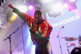 Kele Okereke of Bloc Party performing at the Pandora Discovery Den during SXSW 2016 at The Gatsby on March 19, 2016 in Austin, Texas. (Photo: Rachel Murray/Getty)