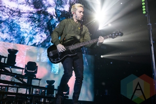Fall Out Boy performing at the Bill Graham Civic Auditorium in San Francisco on March 27, 2016. (Photo: Raymond Ahner/Aesthetic Magazine)