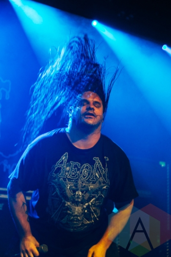 Cannibal Corpse performing at the Commodore Ballroom in Vancouver on March 4, 2016. (Photo: Steven Shepherd/Aesthetic Magazine)