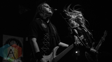 Bloodbound performing at the O2 Forum Kentish Town in London, UK on March 10, 2016. (Photo: Rossi Ivanova/Aesthetic Magazine)