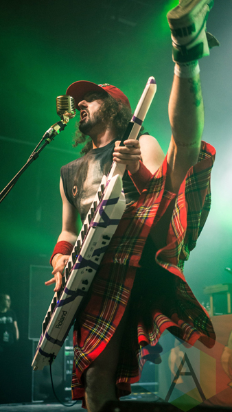 Alestorm performing at the O2 Forum Kentish Town in London, UK on March 10, 2016. (Photo: Rossi Ivanova/Aesthetic Magazine)