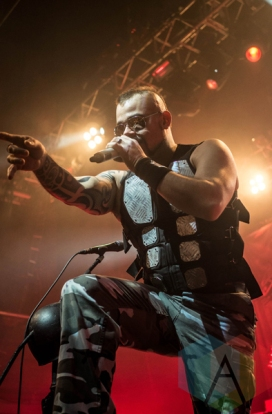 Sabaton performing at the O2 Forum Kentish Town in London, UK on March 10, 2016. (Photo: Rossi Ivanova/Aesthetic Magazine)