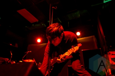 Autolux performing at Lee's Palace in Toronto on April 7. (Photo: Joshua Qubti-Andrews/Aesthetic Magazine)