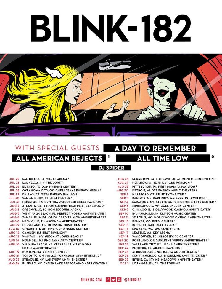 Blink 182 2016 tour