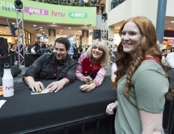 Dear Rouge at JUNO Fan Fare 2016 at Chinook Centre in Calgary on April 2, 2016. (Photo: CARAS)