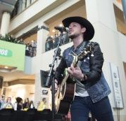 Brett Kissel at JUNO Fan Fare 2016 at Chinook Centre in Calgary on April 2, 2016. (Photo: CARAS)
