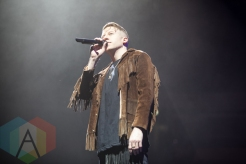 Macklemore and Ryan Lewis performing at the Manchester Arena in Manchester, UK on April 12, 2016. (Photo: Priti Shikotra/Aesthetic Magazine)