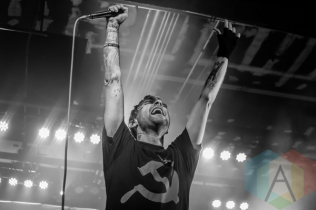 The Used performing at The Marquee Theatre in Tempe, Arizona on April 12, 2016. (Photo: Meghan Lee/Aesthetic Magazine)