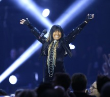 Buffy Sainte-Marie at the 2016 JUNO Awards at Scotiabank Saddledome in Calgary on April 3, 2016. (Photo: CARAS)