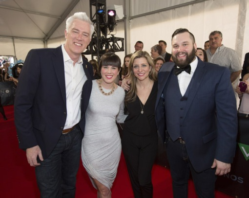 llen Reid and Kim Stockwell join The Fortunate Ones on the red carpet at the 2016 JUNO Awards at Scotiabank Saddledome in Calgary on April 3, 2016. (Photo: CARAS)