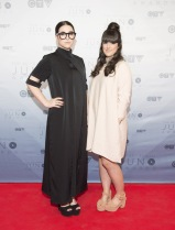 Milk And Bone on the red carpet at the 2016 JUNO Awards at Scotiabank Saddledome in Calgary on April 3, 2016. (Photo: CARAS)