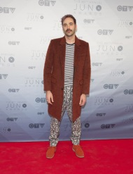 Death from Above 1979 on the red carpet at the 2016 JUNO Awards at Scotiabank Saddledome in Calgary on April 3, 2016. (Photo: CARAS)