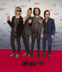 Marianas Trench on the red carpet at the 2016 JUNO Awards at Scotiabank Saddledome in Calgary on April 3, 2016. (Photo: CARAS)