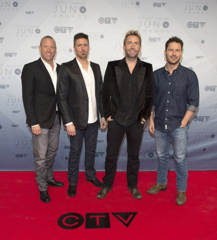 Nickelback on the red carpet at the 2016 JUNO Awards at Scotiabank Saddledome in Calgary on April 3, 2016. (Photo: CARAS)