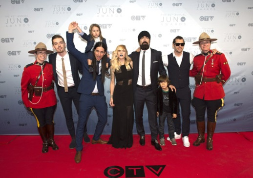 Walk off The Earth on the red carpet at the 2016 JUNO Awards at Scotiabank Saddledome in Calgary on April 3, 2016. (Photo: CARAS)