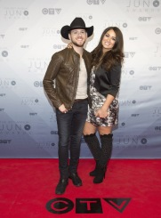 Brett Kissel on the red carpet at the 2016 JUNO Awards at Scotiabank Saddledome in Calgary on April 3, 2016. (Photo: CARAS)