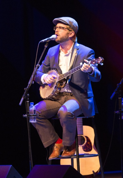 Old Man Luedecke performing at the JUNO Songwriters' Circle at the Jack Singer Concert Hall in Calgary on April 3, 2016. (Photo: CARAS)