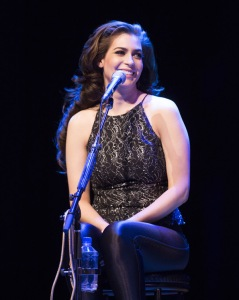 Tareya Green of Autumn Hill performing at the JUNO Songwriters' Circle at the Jack Singer Concert Hall in Calgary on April 3, 2016. (Photo: CARAS)