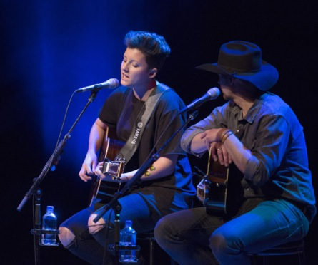 Ria Mae performing at the JUNO Songwriters' Circle at the Jack Singer Concert Hall in Calgary on April 3, 2016. (Photo: CARAS)