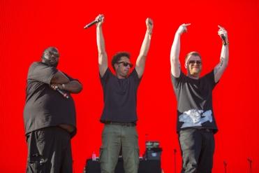 Zack De La Rocha and Run The Jewels performing at the Coachella Music Festival on April 23, 2016. (Photo: Erik Voake/Goldenvoice)
