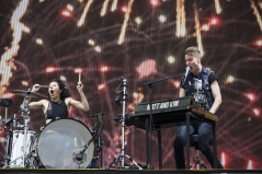 Matt And Kim performing at the Coachella Music Festival on April 24, 2016. (Photo: Erik Voake/Goldenvoice)