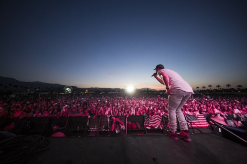 Sam Hunt performing on the Toyota Mane Stage at the Stagecoach Festival on April 29, 2016. (Photo: Erik Voake/Goldenvoice)