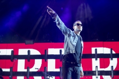 G-Eazy joins Sam Hunt on the Toyota Mane Stage at the Stagecoach Festival on April 29, 2016. (Photo: Erik Voake/Goldenvoice)