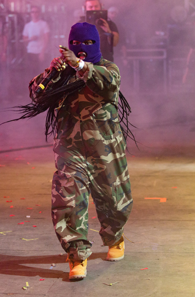 Leikeli47 and Baauer performing at the Coachella Music Festival on April 24, 2016. (Photo: Goldenvoice)