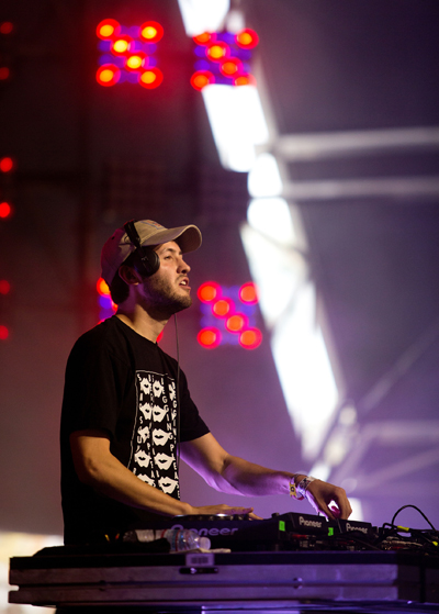 Baauer performing at the Coachella Music Festival on April 24, 2016. (Photo: Goldenvoice)