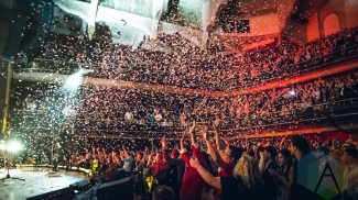 Above and Beyond performing at Massey Hall in Toronto on May 15, 2016. (Photo: Anthony D'Elia/Aesthetic Magazine)
