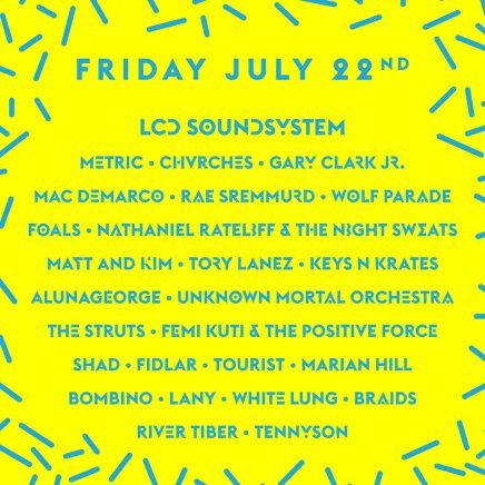 Wayhome 2016 lineup for July 22nd.