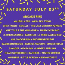 Wayhome 2016 lineup for July 23rd.