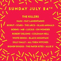 Wayhome 2016 lineup for July 24th.