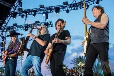 The Doobie Brothers performing on the Palomino Stage at the Stagecoach Festival on May 1, 2016. (Photo: Meghan Lee/Aesthetic Magazine)