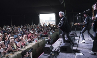 Marty Stuart performing on the Mustang Stage at the Stagecoach Festival on April 29, 2016. (Photo: Ryan Muir/Goldenvoice)