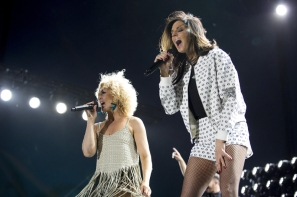 Little Big Town performing on the Toyota Mane Stage at the Stagecoach Festival on May 1, 2016. (Photo: Erik Voake/Goldenvoice)