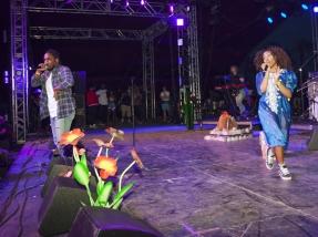 Kendrick Lamar and SZA performing at the Coachella Music Festival on April 23, 2016. (Photo: Nikki Jahanforouze)