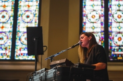 Juliana Barwick performing at Moogfest 2016 in Durham, North Carolina on May 21, 2016. (Photo: Ian Clontz)