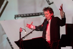Laurie Anderson performing at Moogfest 2016 in Durham, North Carolina on May 21, 2016. (Photo: Moogfest)