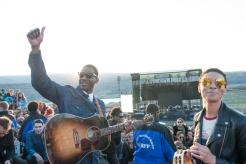 Leon Bridges performing at Sasquatch 2016 at the Gorge Amphitheatre in George, Washington on May 29, 2016. (Photo: Matthew Lamb)