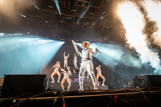 Major Lazer performing at Sasquatch 2016 at The Gorge Amphitheatre in George, Washington on May 28, 2016. (Photo: Matthew Lamb)