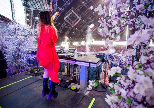 TOKIMONSTA performing at the Coachella Music Festival on April 24, 2016. (Photo: Goldenvoice)