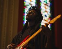 Moses Sumney performing at Moogfest 2016 in Durham, North Carolina on May 21, 2016. (Photo: Ian Clontz)