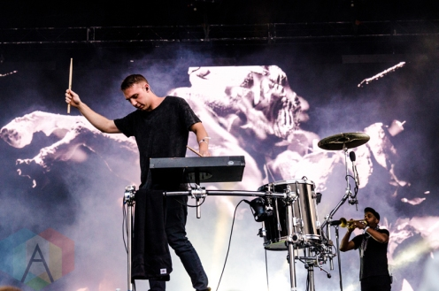 Odesza performing at Boston Calling 2016 at Boston City Hall Plaza in Boston on May 28th. (Photo: Saidy Lopez/Aesthetic Magazine)