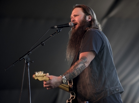 Whitey Morgan performing on the Mustang Stage at the Stagecoach Festival on April 29, 2016. (Photo: Ryan Muir/Goldenvoice)
