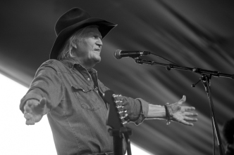Billy Joe Shaver performing on the Mustang Stage at the Stagecoach Festival on April 29, 2016. (Photo: Ryan Muir/Goldenvoice)